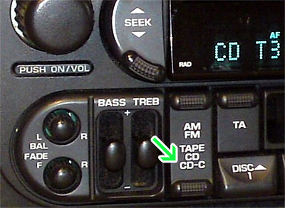 Chrysler with CD-C button