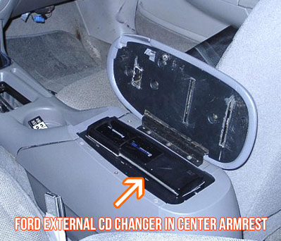 ford remotely mounted cd changer