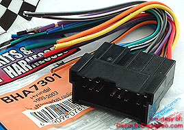 Bha7301 aftermarket radio install harness in select 1999 09 hyundai