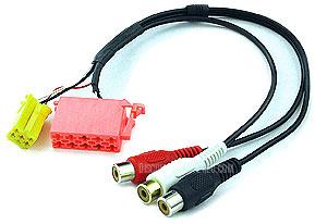 BLAU-AV2 Audio/Video Output Cable for Blaupunkt DVD35