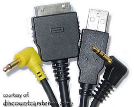 PIE KNW/USB-AV2 Audio, Video & USB Cable for Kenwood to iPod