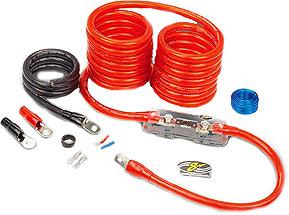 Stinger SPK5201R  1/0-Gauge Shock -Chrome Power Amp Kit