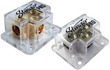 Stinger SPD811 3-way 4-gauge T-Style Distribution block (Gold)