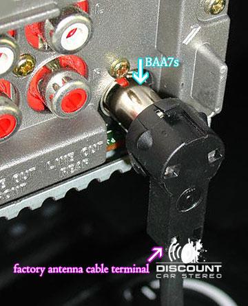 BAA7s Aftermarket Radio Antenna adapter for select European Vehicles