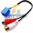 BLAU/8-RCA Auxilary Input Cable for select Blaupunkt and Becker Radios