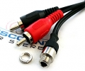 AUX-JACK Dash mount 3.5mm to RCA Audio Input Cable (3.5 ft.)