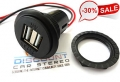USB46D Dash Mount High Current Dual USB Charging Adapter (2.5A)