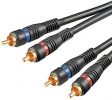 2-Channel Male to Male RCA interconnect Cable
