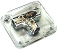 Stinger SPD511 3-way 4-gauge T-Style Distribution block (Platinum)