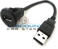 USB-DMA1 Universal Dash Mount USB Extension Cable (6 inch)