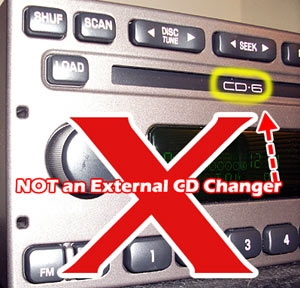 cd changer built-into radio is not external