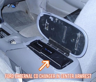 factory cd changer in center armrest