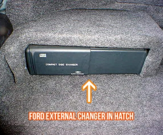 factory cd changer in trunk