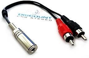 3.5F-RCA 3.5mm to RCA Audio Adapter Cable