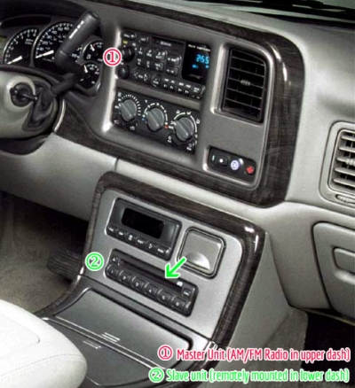 required slave/remote unit in lower dash