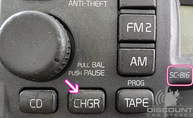 radio with CHGR button
