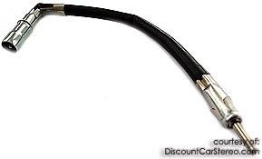 BAA18 Aftermarket Radio To OEM Antenna adapter for select 1990-07 Ford
