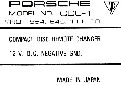 A2D-CR12 Music Streaming Adapter for Porsche with CDC-1 and CDC-2 Changers