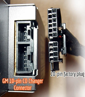 cd changer 10-pin connector