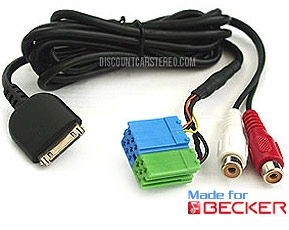 "iP-BKR3 iPod and Aux Adapter for Becker Radios with ""AUX"" Menu Option"