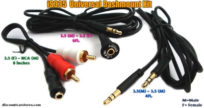 iSimple iS335 Dash mount 3.5mm Auxiliary Input Kit